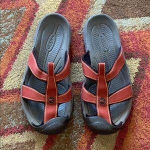 Keen slip on sandals size 7
